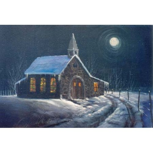 8870 CHURCH IN MOONLIGHT